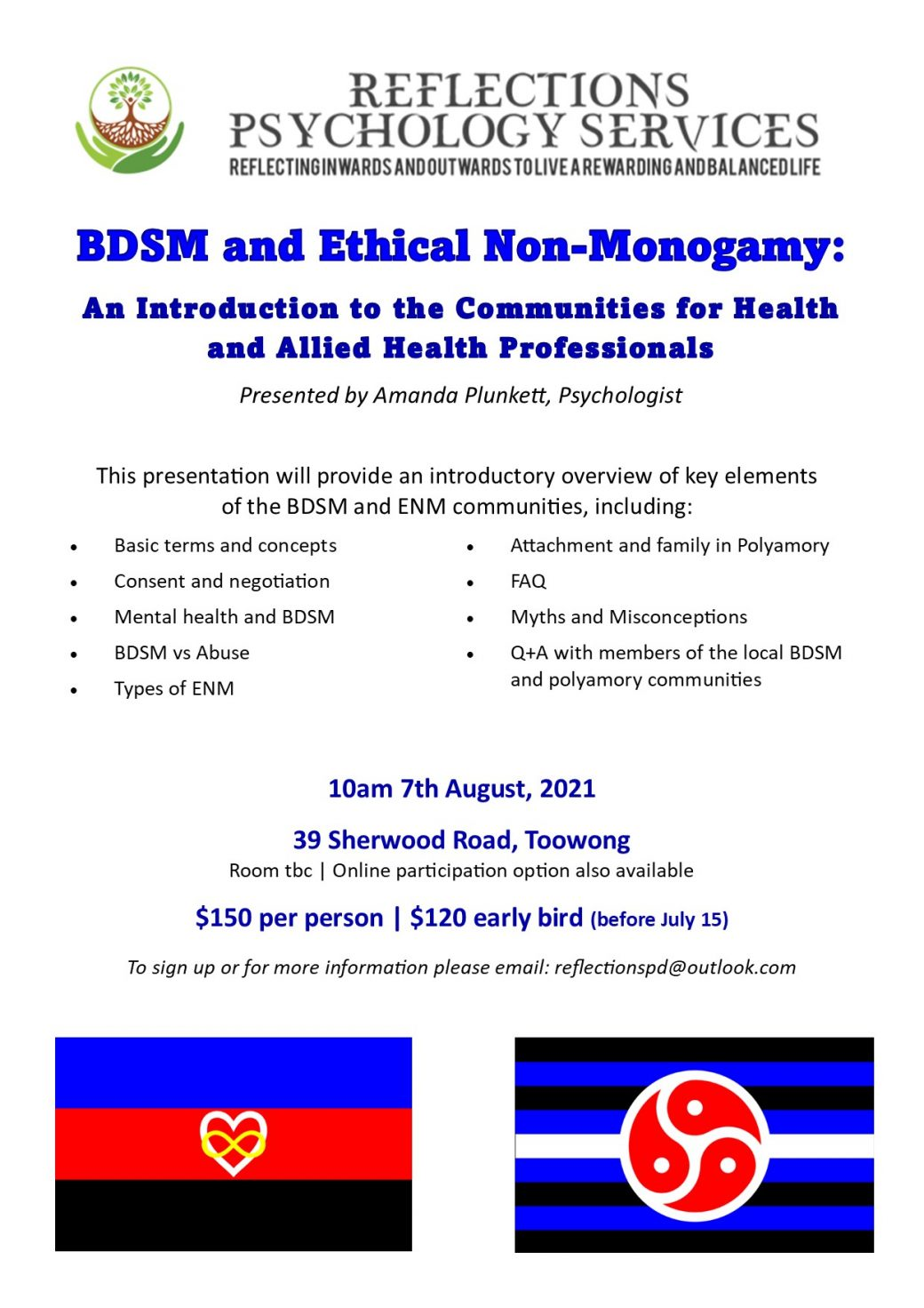Professional Development – Introduction to BDSM and ENM for Health and Allied Health Professionals